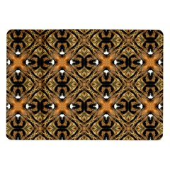 Faux Animal Print Pattern Samsung Galaxy Tab 10 1  P7500 Flip Case by creativemom