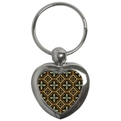 Faux Animal Print Pattern Key Chain (heart) by creativemom