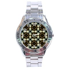 Faux Animal Print Pattern Stainless Steel Watch by creativemom