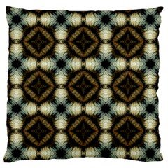 Faux Animal Print Pattern Large Flano Cushion Case (two Sides) by creativemom