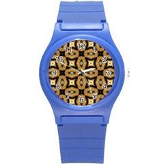 Faux Animal Print Pattern Plastic Sport Watch (small) by creativemom