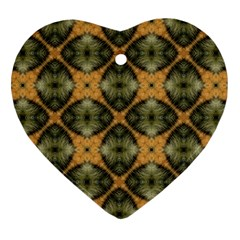 Faux Animal Print Pattern Heart Ornament (two Sides) by creativemom