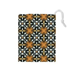 Faux Animal Print Pattern Drawstring Pouch (medium) by creativemom