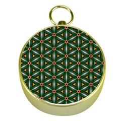 Cute Pretty Elegant Pattern Gold Compass by creativemom