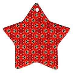 Cute Pretty Elegant Pattern Star Ornament by creativemom