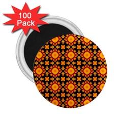 Cute Pretty Elegant Pattern 2.25  Button Magnet (100 pack) by creativemom