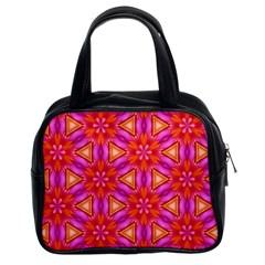 Cute Pretty Elegant Pattern Classic Handbag (Two Sides) by creativemom