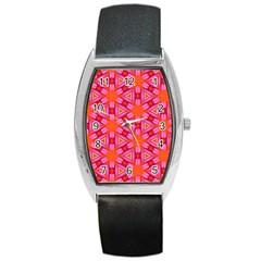 Cute Pretty Elegant Pattern Tonneau Leather Watch by creativemom