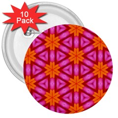 Cute Pretty Elegant Pattern 3  Button (10 Pack) by creativemom