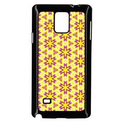 Cute Pretty Elegant Pattern Samsung Galaxy Note 4 Case (black) by creativemom