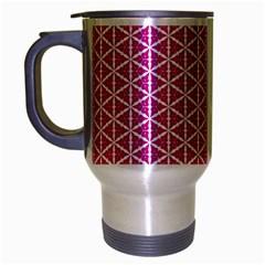 Cute Pretty Elegant Pattern Travel Mug (silver Gray) by creativemom