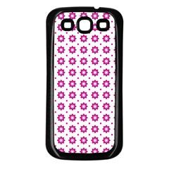 Cute Pretty Elegant Pattern Samsung Galaxy S3 Back Case (black) by creativemom