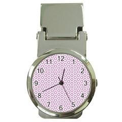 Cute Pretty Elegant Pattern Money Clip With Watch by creativemom