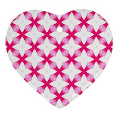 Cute Pretty Elegant Pattern Heart Ornament by creativemom