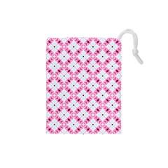 Cute Pretty Elegant Pattern Drawstring Pouch (small) by creativemom