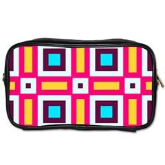 Cute Pretty Elegant Pattern Travel Toiletry Bag (one Side) by creativemom