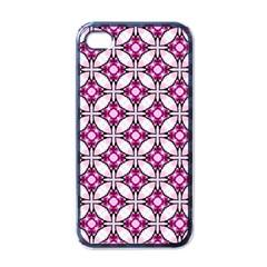 Cute Pretty Elegant Pattern Apple Iphone 4 Case (black) by creativemom