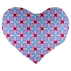 Cute Pretty Elegant Pattern 19  Premium Flano Heart Shape Cushion by creativemom