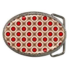 Cute Pretty Elegant Pattern Belt Buckle (oval) by creativemom