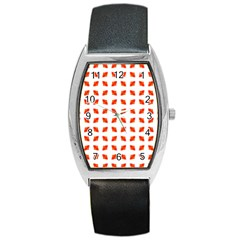 Cute Pretty Elegant Pattern Tonneau Leather Watch by creativemom