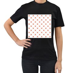 Cute Pretty Elegant Pattern Women s T Shirt (black) by creativemom