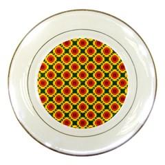 Cute Pretty Elegant Pattern Porcelain Display Plate