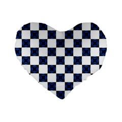 Cute Pretty Elegant Pattern 16  Premium Heart Shape Cushion  by creativemom