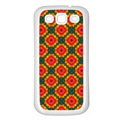 Cute Pretty Elegant Pattern Samsung Galaxy S3 Back Case (white) by creativemom