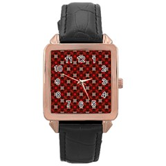 Cute Pretty Elegant Pattern Rose Gold Leather Watch  by creativemom