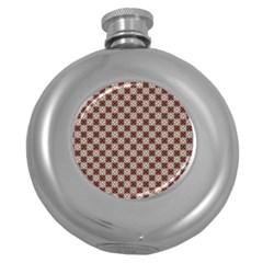 Cute Pretty Elegant Pattern Hip Flask (round) by creativemom