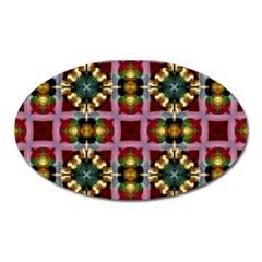 Cute Pretty Elegant Pattern Magnet (oval) by creativemom