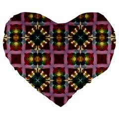 Cute Pretty Elegant Pattern 19  Premium Heart Shape Cushion by creativemom