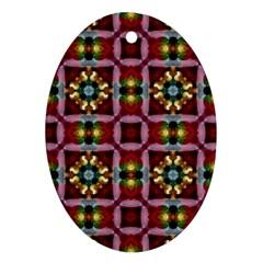 Cute Pretty Elegant Pattern Oval Ornament (two Sides) by creativemom