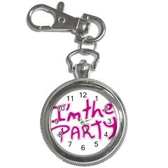 I Am The Party Typographic Design Quote Key Chain Watch by dflcprints