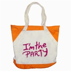 I Am The Party Typographic Design Quote Accent Tote Bag by dflcprints