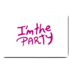 I Am The Party Typographic Design Quote Large Door Mat by dflcprints