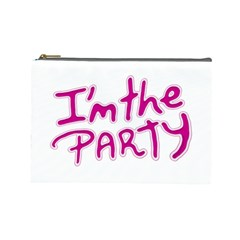 I Am The Party Typographic Design Quote Cosmetic Bag (large) by dflcprints