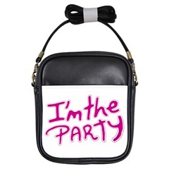 I Am The Party Typographic Design Quote Girl s Sling Bag by dflcprints