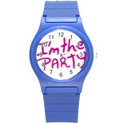 I Am The Party Typographic Design Quote Plastic Sport Watch (small) by dflcprints
