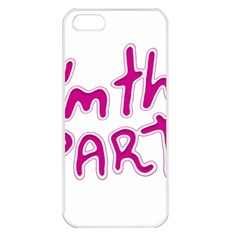 I Am The Party Typographic Design Quote Apple Iphone 5 Seamless Case (white) by dflcprints