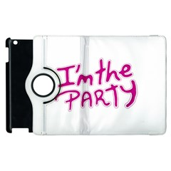 I Am The Party Typographic Design Quote Apple Ipad 3/4 Flip 360 Case by dflcprints