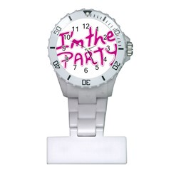 I Am The Party Typographic Design Quote Nurses Watch by dflcprints