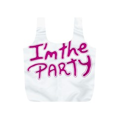 I Am The Party Typographic Design Quote Reusable Bag (s) by dflcprints