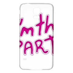 I Am The Party Typographic Design Quote Samsung Galaxy S5 Back Case (white) by dflcprints
