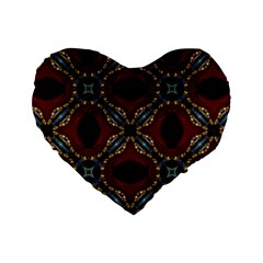 Cute Pretty Elegant Pattern 16  Premium Heart Shape Cushion  by creativemom