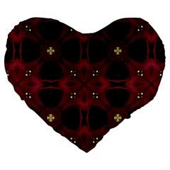 Cute Pretty Elegant Pattern 19  Premium Heart Shape Cushion by creativemom
