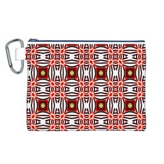 Cute Pretty Elegant Pattern Canvas Cosmetic Bag (Large) by creativemom