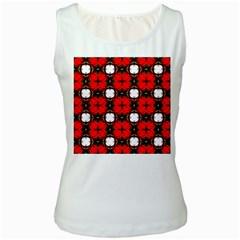 Cute Pretty Elegant Pattern Women s Tank Top (White) by creativemom