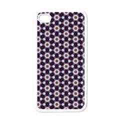 Cute Pretty Elegant Pattern Apple Iphone 4 Case (white) by creativemom