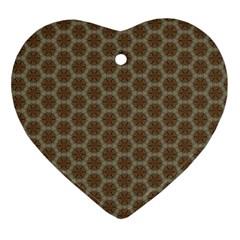Cute Pretty Elegant Pattern Heart Ornament by creativemom